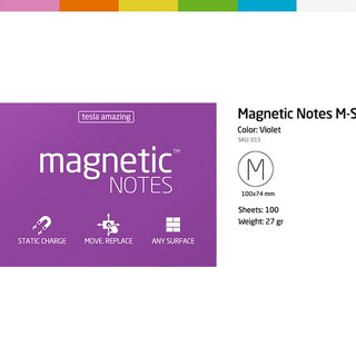 /Tesla Amazing/ Magnetic Notes M-size purple