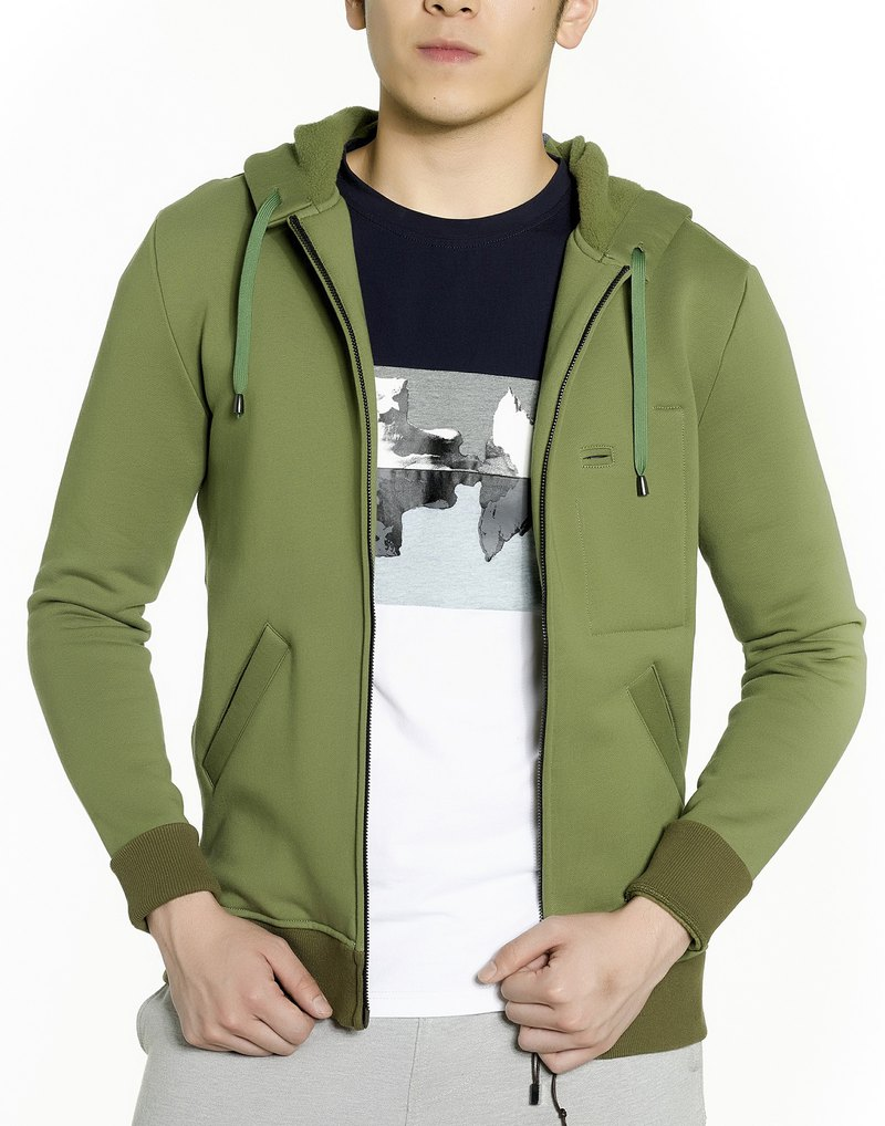 Zip-up Hoodie (Military Green)