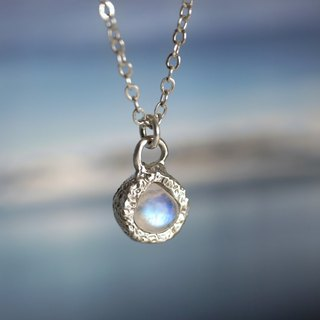 Moonlight Teardrops - Moonstone Sterling Silver Clavicle Chain