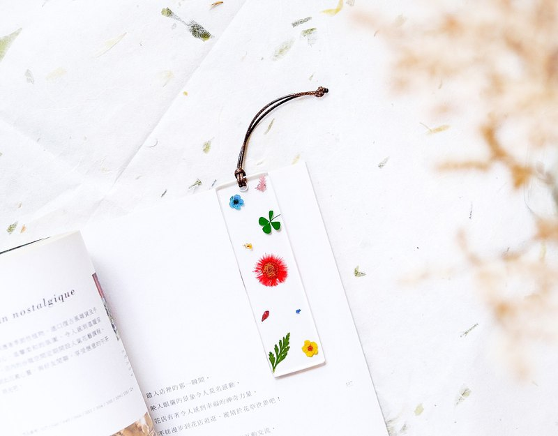 文青系 壓花 書籤 Pressed Flowers Bookmark