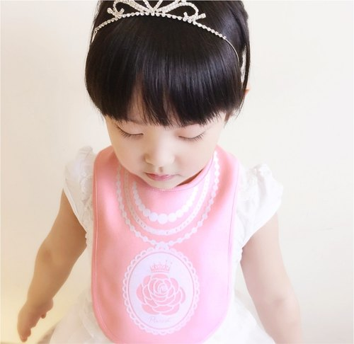 PUREST baby collection [Versailles] Rose princess female baby bibs decorated (pink section)