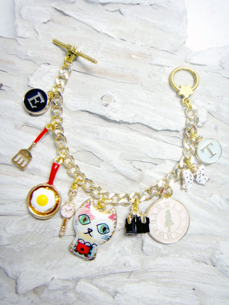 TIMBEE LO Alice in Wonderland Mad Cat Hat Mr. bracelet plated bracelet 18K real gold chain anti-fade ALICE IN THE WONDERLAND