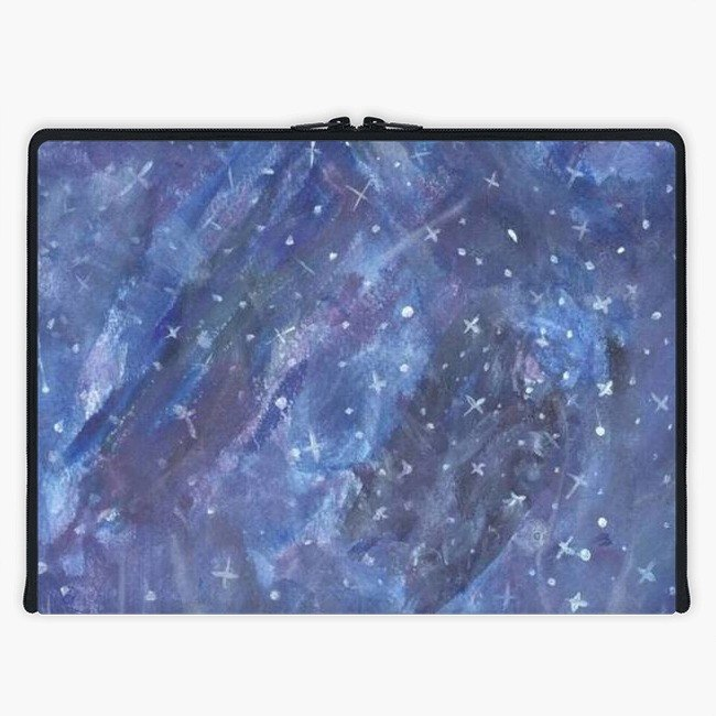 Axis - Custom 3-Sided Zipper Laptop Sleeve - Starry Night