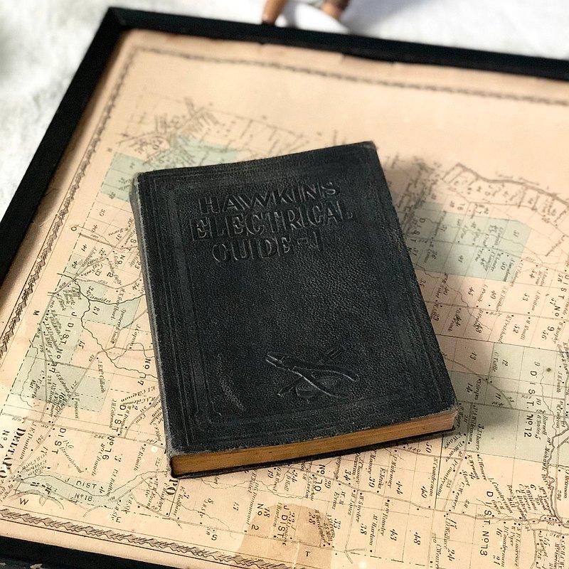百年古董 1917年出版 Hawkins Electrical Guide第1本 電磁學書本