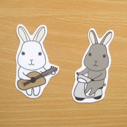 Bunny's daily waterproof stickers