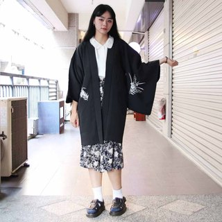 Tsubasa.Y Ancient House 004 dedicated to daily print black feather weave, blouse jacket and kimono Japanese style