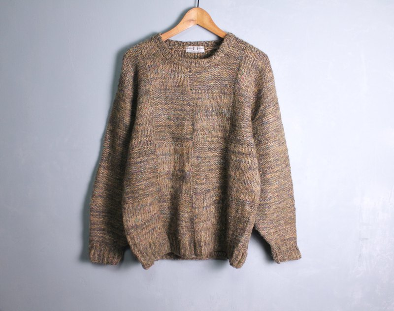 FOAK vintage brown mixed color knitted sweater