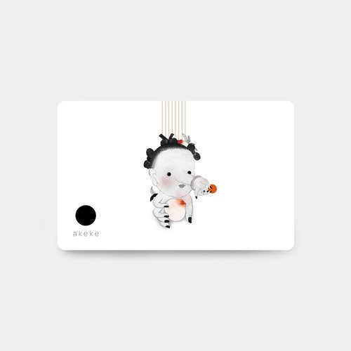 ORANGE card stickers, Octopus card paste ◆ crystal material version