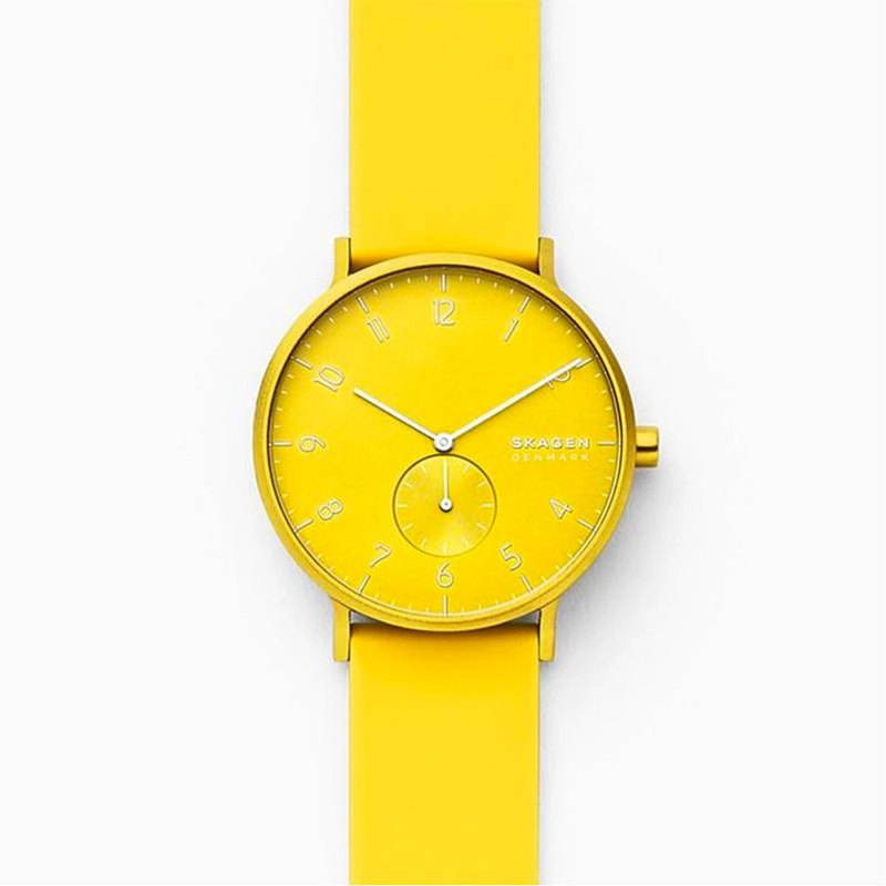 Aaren Kulor neon yellow enamel watch 41mm-SKW6557