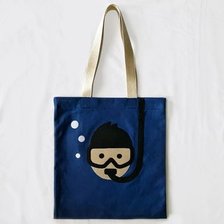 Diving, Tote bag - handmade