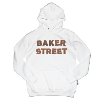 British Fashion Brand [Baker Street] Leather Letters Printed Hoodie
