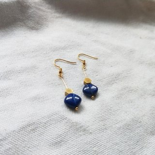 Wisdom and Truth Lapis Lace Earrings