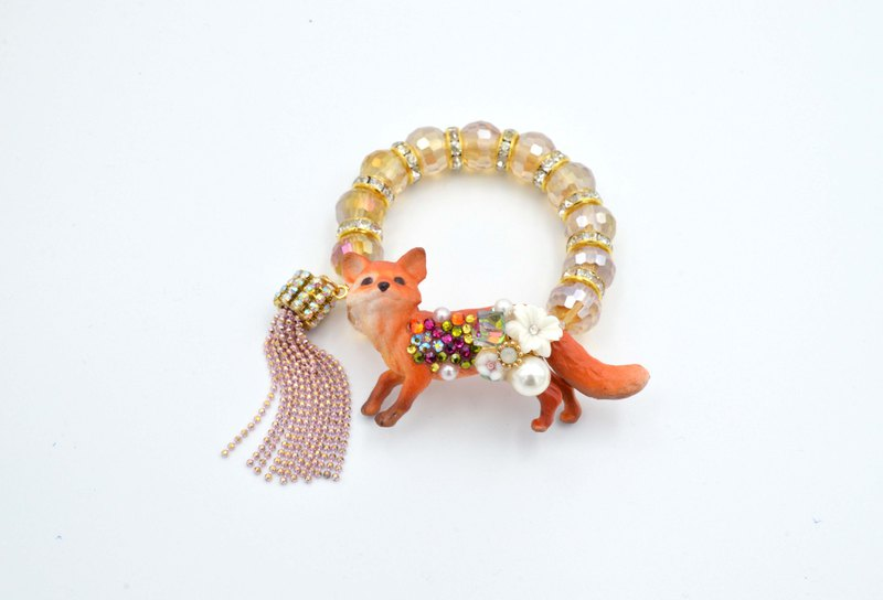 TIMBEE LO fox crystal flower flower bracelet ART handmade brakes garden fresh creative gorgeous jewelry