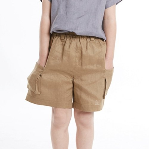 O0258 neutral casual pants pocket - sumac