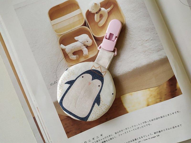 企鵝  圓型平安符袋 彌月禮物 平安符袋 香火袋