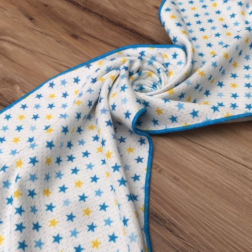 A sense of cool towel - blue and yellow stars