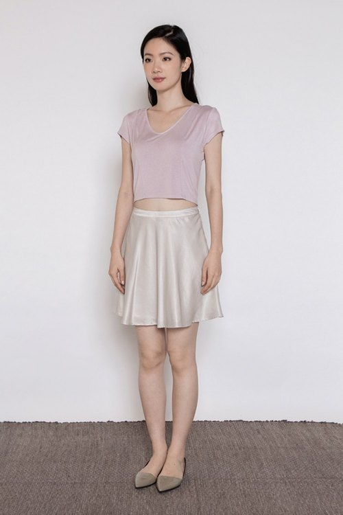 Slow Dance Flowy Skirt - Light gray