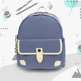 Free shipping I AM-LIBERTY Backpack - Blue/White/Beige