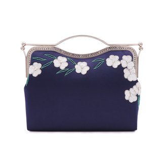 Dark blue/Original design/Beading/High-capacity/Handmade Bag/Shoulder Bag
