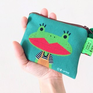 Small square package double-sided design premium 252 coin purse key bag card package cat frog