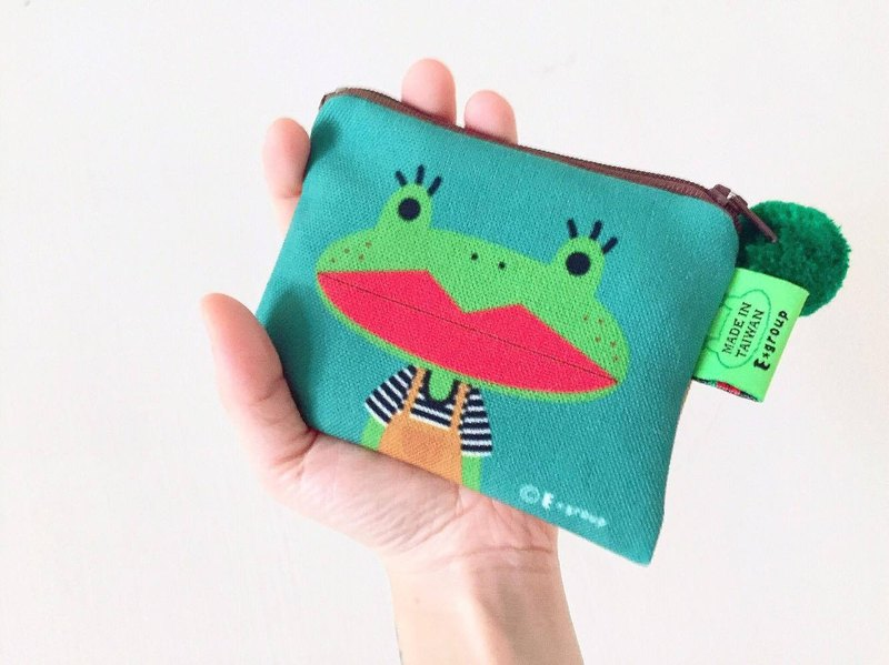 E*group small square package double-sided design A frog country coin purse card package cat frog