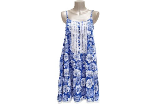 New! San Flower lace dress <Blue>