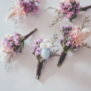 Fleurir blossoming time dreams of Yaduo groom brooch without flowers and dry flowers. Wedding small things