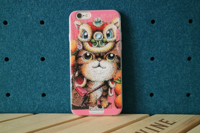 Yourself Design - Lion Dance Kitty Case Phone Case A02