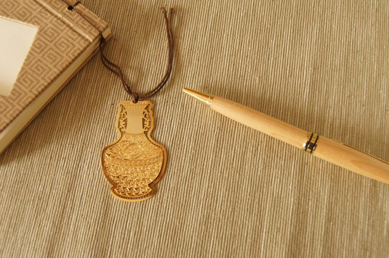 Haoheyuan-24K Gold Bookmark Notepad - Double Ears with Bottle