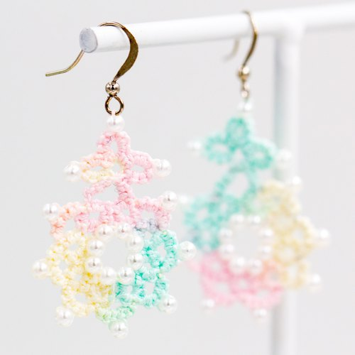 National star flower earrings - fantasy