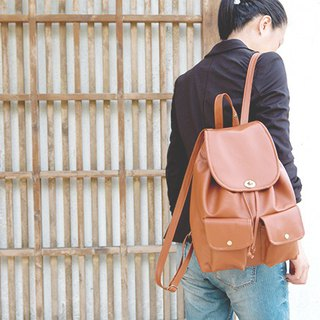 CLM spin buckle backpack_ camel