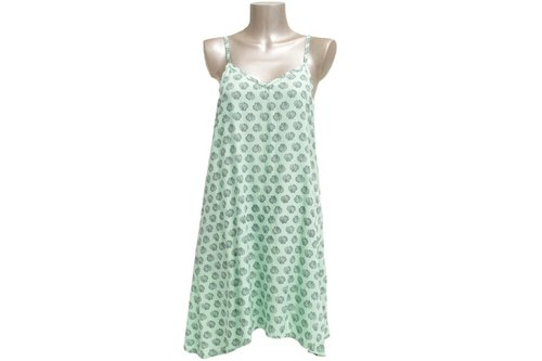 New! Shell print camisole dress <Green>