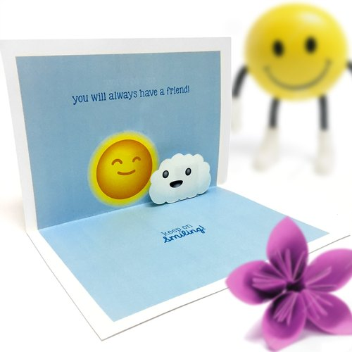 Don't Be A Sad Cloud Card | Friendship Card | Happy Card | Pop Up Card