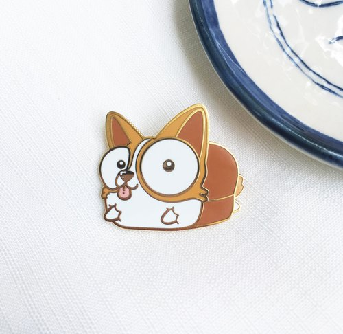 Corgi Bread : Hard Enamel Pin