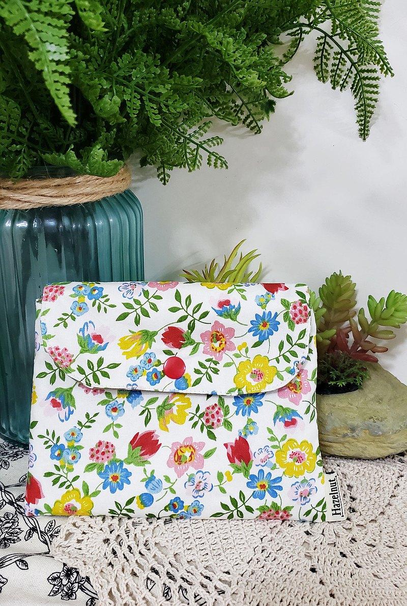 北歐田園風小花圖案小收納袋/小卡片包/口罩收纳/多功能小包/零錢包