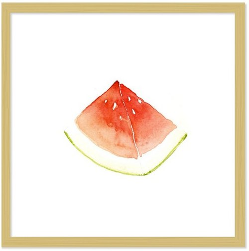 Fresh Summer-Watermelon fresh watermelon small box art painting 34cm