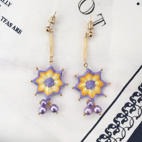 Mandala Early Spring Series Gradient Braided Earrings