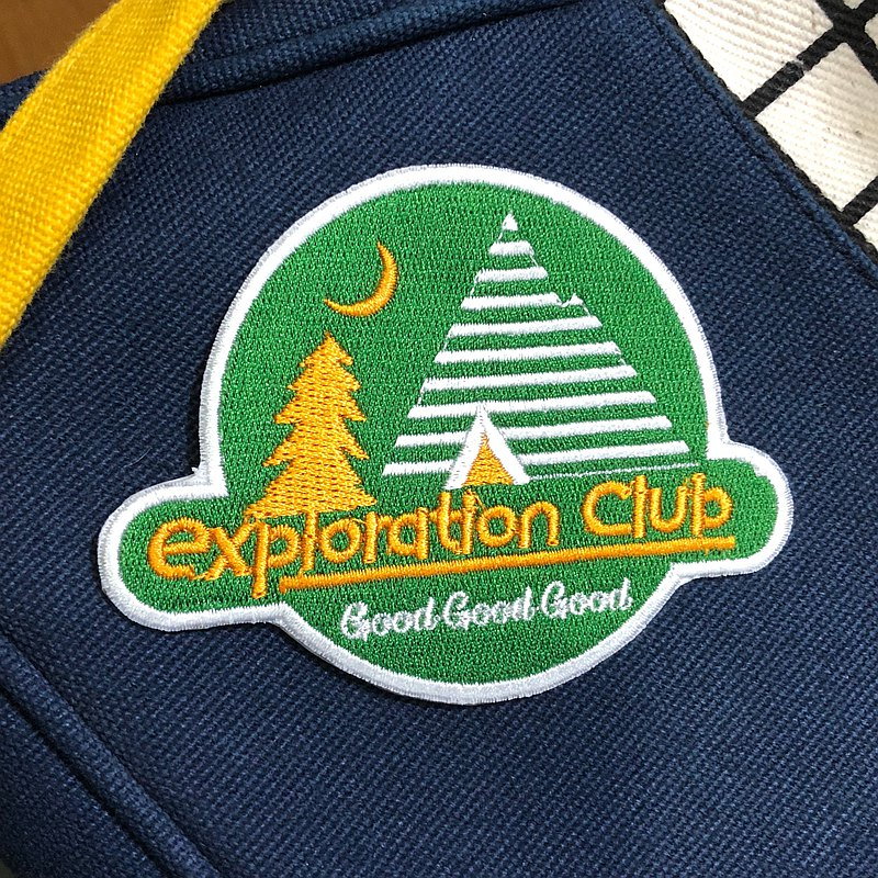戶外風刺繡野外布貼 Exploration Club // Good Good Good
