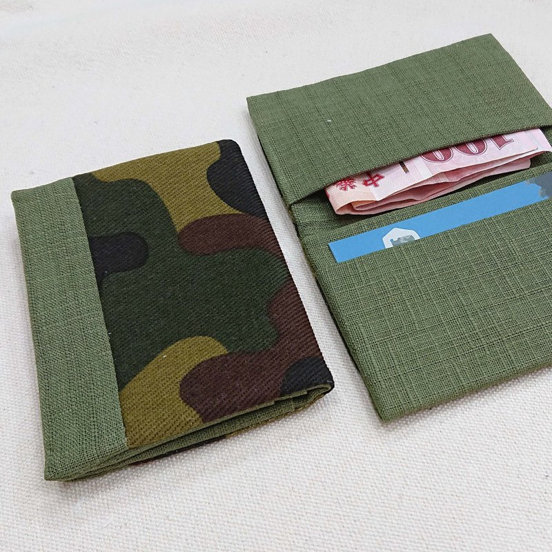 Camouflage style handmade business card holder