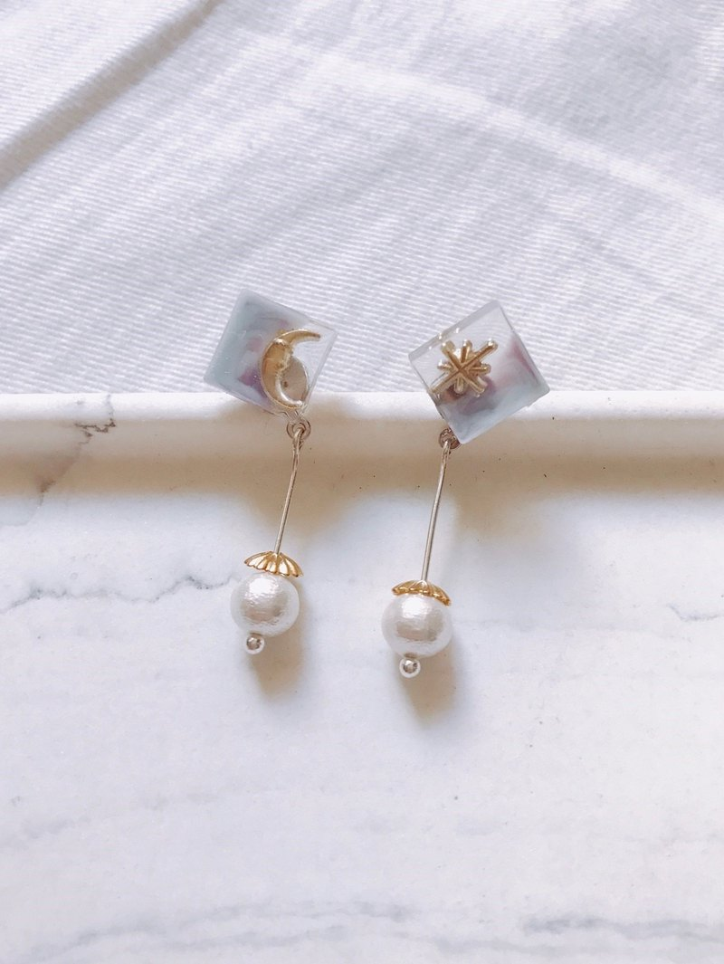 Beautiful night earrings drop earrings