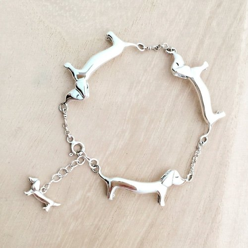[Jewelry] Jin Xialin ‧ four intestinal bowel Silver Bracelet