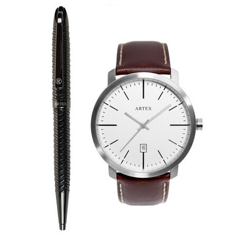 ARTEX Jacob Ball Pen + Watch Dual Combination / Black Keyboard