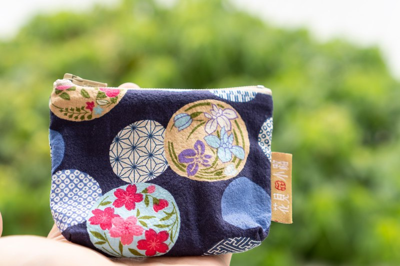 Day of the package | Bottle glass ball. Indigo blue. Coin purse. Japanese flower cloth production. Cute little things