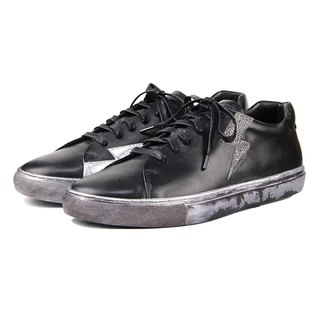 Thunder M1189 Black Leather Sneaker