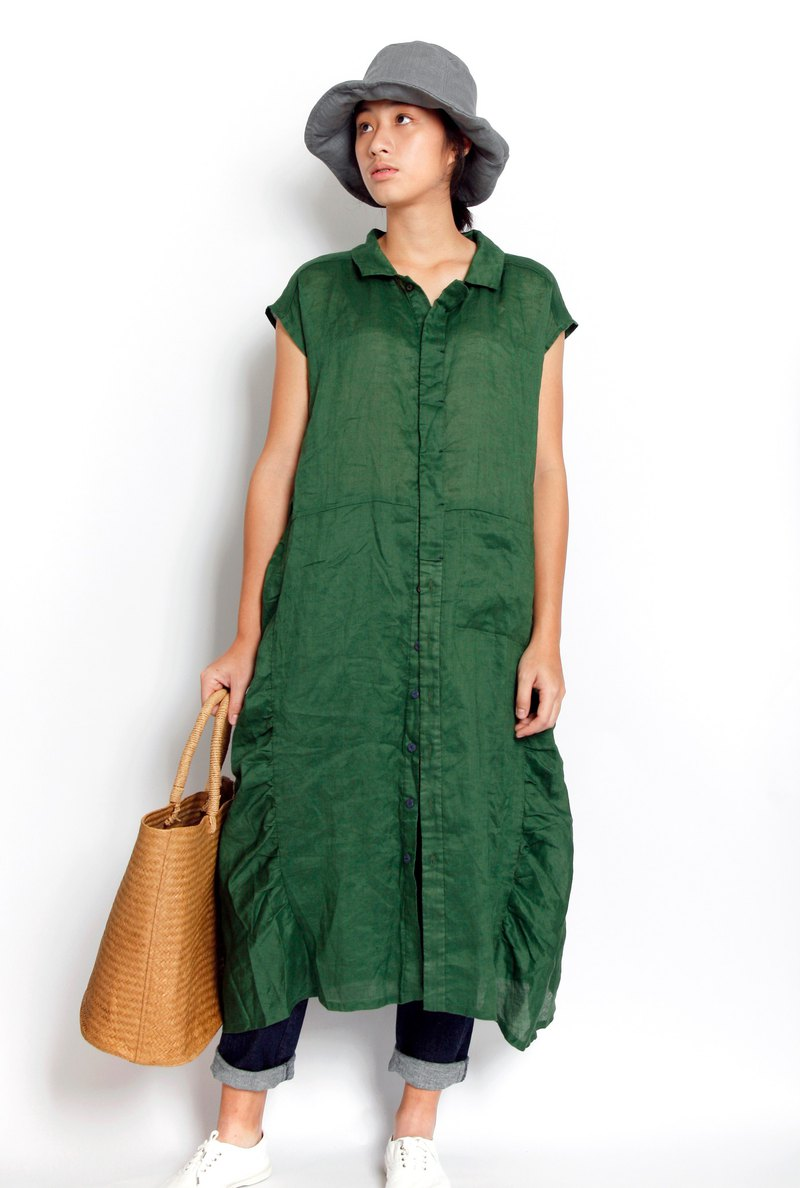 Sea _ collection basin ramie shirt dress