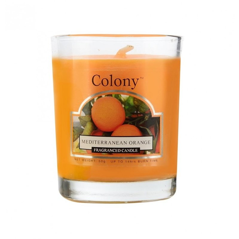 British fragrance Colony series Mediterranean orange small jar glass candle