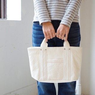 Kurashiki canvas mini tote - Pure white