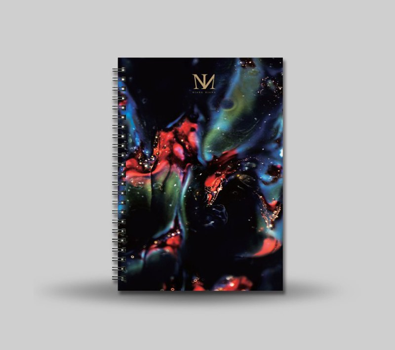 Five elements art design notebook