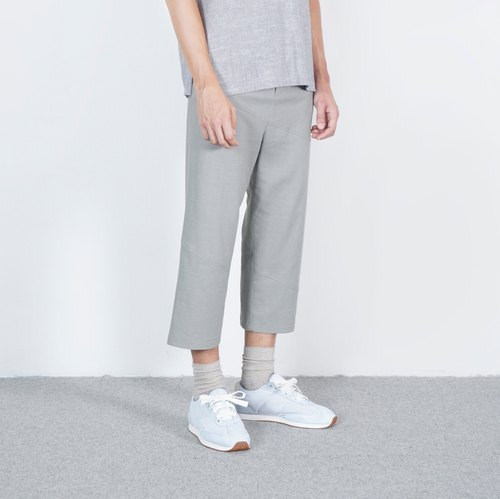 Black and white cut 16AW lead-gray oblique version of the simple trousers