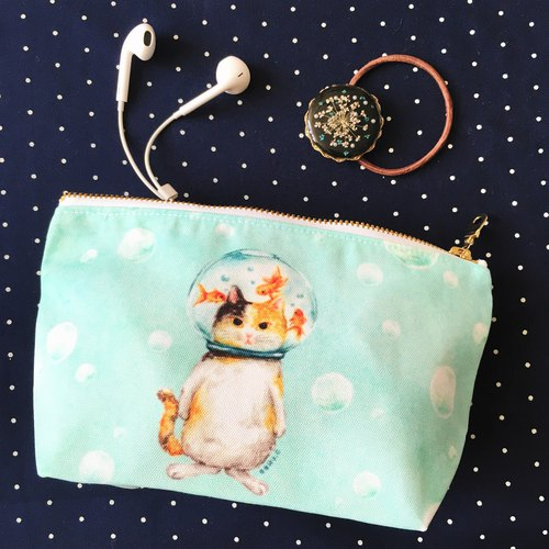 Storage bag / Cosmetic / Pencil ★ ★ goldfish glass ball cat cat